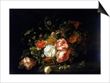 Basket of Flowers, Uffizi Gallery, Florence Prints by Rachel Ruysch