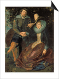 Rubens Und Isabella Brant in a Honeysuckle Bower, about 1609 Posters by Peter Paul Rubens