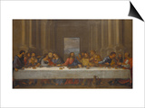 The Last Supper. (Copy after Leonardo Da Vinci) Print by Nicolas Poussin