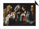 The Presentation in the Temple Prints by  Caravaggio