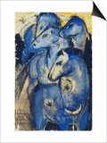 Tower of the Blue Horses, 1913 (Postcard to Else Lasker-Schueler) Posters by Franz Marc