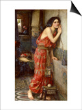 Thisbe' or 'The Listener', 1909 Prints by John William Waterhouse