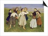 Kinderreigen, 1872 Art by Hans Thoma