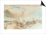 Eddystone Lighthouse off Plymouth Prints by J. M. W. Turner