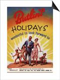 Holiday Butlins, UK, 1950 Print