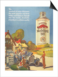 Mobiloil Gas Stations Day Trips, USA, 1920 Prints