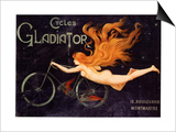 Gladiator Bicycles, France, 1905 Prints