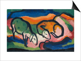 Sheep, 1912 Art by Franz Marc