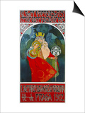 Poster for the 6th Meeting of the Czech Sokol-Union, Prague 1912 Poster by Alphonse Mucha