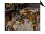 Still-Life with Fruit Basket, c.1888 Prints by Paul Cézanne
