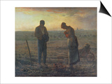 Evening Prayer (L'Angelus), 1857/59 Print by Jean-François Millet