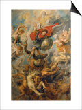 War in Heaven. Archangel Michael in the Fight Against Schismatic Angels Posters by Peter Paul Rubens