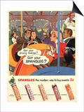 Spangles, Sweets, UK, 1950 Poster