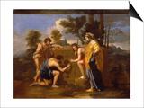 "Les Bergers d'Arcadie dit aussi ""Et in Arcadia Ego"" Print by Nicolas Poussin"