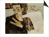 Self-Portrait with Spread Fingers, 1911 Prints by Egon Schiele