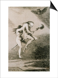 Linda Maestra, Gentle Mistress, Etching No. 68 from the Caprichos, Around 1798 Poster by Francisco de Goya