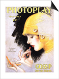 Photoplay Lipsticks Putting On Magazine, USA, 1920 Print