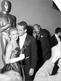 "30th Annual Academy Awards, 1957. Joanne Woodward ""The Three Faces of Eve"" And Paul Newman Posters"