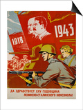 Russian Communist Poster, 1943 Prints