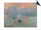 Impression: Sunrise, 1872 Art by Claude Monet