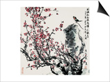 Cherry Blossoms and Bird Prints by Wanqi Zhang