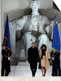 Barack Obama and His Wife Arrive at the Opening Inaugural Celebration at the Lincoln Memorial Prints