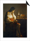 The Magdalene with a Night Light Prints by Georges de La Tour