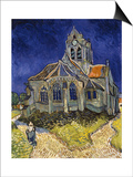 The Church in Auvers-Sur-Oise, c.1890 Art by Vincent van Gogh