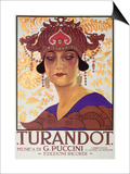 Title Page of Score of Turandot, Opera by Giacomo Puccini Poster