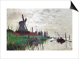 Windmill at Zaandam (Netherlands), 1871 Prints by Claude Monet