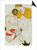 Lovers, 1913 Poster by Egon Schiele