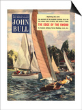 John Bull, Sailing Boats Magazine, UK, 1950 Poster