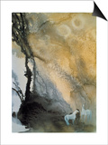 Horses at Leisure Print by Yunlan He