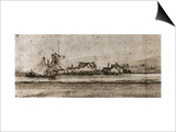 Het Molentje (The Small Mill), Seen from Amsteldijk Prints by  Rembrandt van Rijn