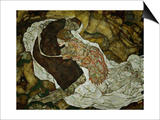 Death and the Maiden, 1915 Posters by Egon Schiele