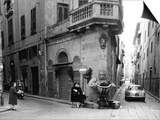 Corner of Borgo San Iacopo and Via Dello Sprone in Florence Prints by Vincenzo Balocchi