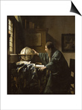 The Astronomer Art by Jan Vermeer
