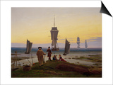 Die Lebensstufen (Strandszene in Wiek) (The Stages of Life), c.1843 Posters by Caspar David Friedrich