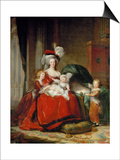 Queen Marie-Antoinette and Her Children, 1787 Posters by Elisabeth Louise Vigee-LeBrun