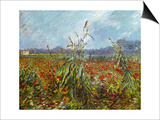 Field with Poppies Posters by Vincent van Gogh