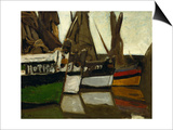Fishing Boats, Honfleur, 1866 Prints by Claude Monet