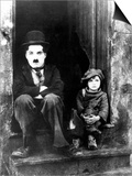 "Charlie Chaplin, Jackie Coogan. ""The Kid"" 1921, Directed by Charles Chaplin Art"