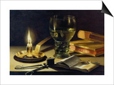 Still-Life with Burning Candle, 1627 Posters by Pieter Claesz