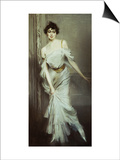 Portrait of Mme. Charles Max Poster by Giovanni Boldini