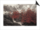 Autumn Mist Print by Baogui Zhang