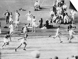 Running in the 1932 Olympics in Los Angeles Prints
