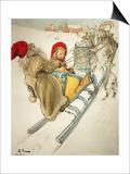 Kersti Sledging, 1901 Prints by Carl Larsson