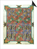 Carpet Page from the Lindisfarne Gospels, Around 698-700, Design in the Shape of a Cross Art
