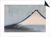 Le Fuji bleu Poster by Katsushika Hokusai