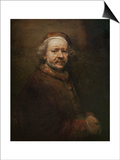 Self Portrait at Old Age, 1669 Posters by  Rembrandt van Rijn
